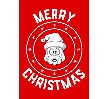Santa's Merry Christmas Logo Photographic Print