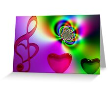 Symphony of Love Greeting Card