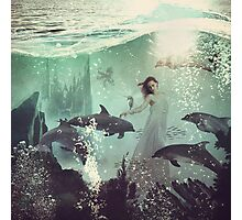 The Sea Unicorn Lady Photographic Print
