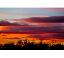 Bright orange sunset Photographic Print