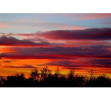Bright orange sunset Photographic Print