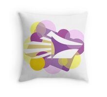 Crown Dots Throw Pillow