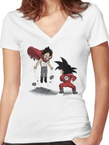 Anime Fight Women's Fitted V-Neck T-Shirt
