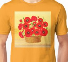 Basket With Red Poppies Unisex T-Shirt