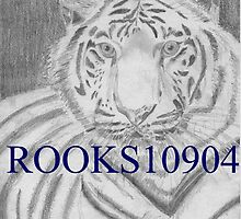 White Tiger 3 LARGE CAT ART PRINT by rooks10904