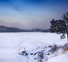 Nederland Colorado Barker Reservoir Winter Scenic View' by Bo Insogna