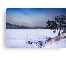 Nederland Colorado Barker Reservoir Winter Scenic View' Canvas Print