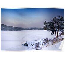 Nederland Colorado Barker Reservoir Winter Scenic View' Poster