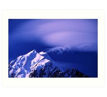 Cloud Formations over Mount Cook Art Print