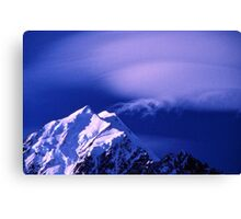 Cloud Formations over Mount Cook Canvas Print