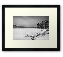 Nederland Colorado Barker Reservoir Winter View BW Framed Print