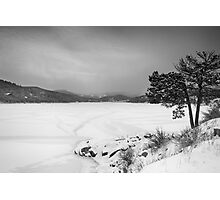 Nederland Colorado Barker Reservoir Winter View BW Photographic Print