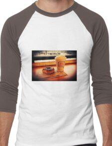 Saturday at Dunkin Donuts  Men's Baseball ¾ T-Shirt