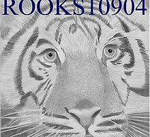 White Tiger LARGE CAT ART PRINT by rooks10904