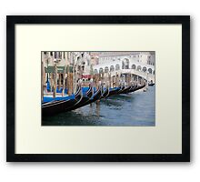 Venice's gondolas  Framed Print