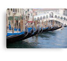 Venice's gondolas  Canvas Print