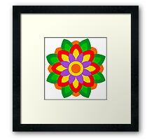 FLOWER ART IN BRUSH AND GOUACHE Framed Print