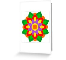 FLOWER ART IN BRUSH AND GOUACHE Greeting Card