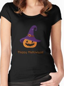 Jack-O-Lantern.  Women's Fitted Scoop T-Shirt