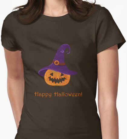 Jack-O-Lantern.  Womens Fitted T-Shirt