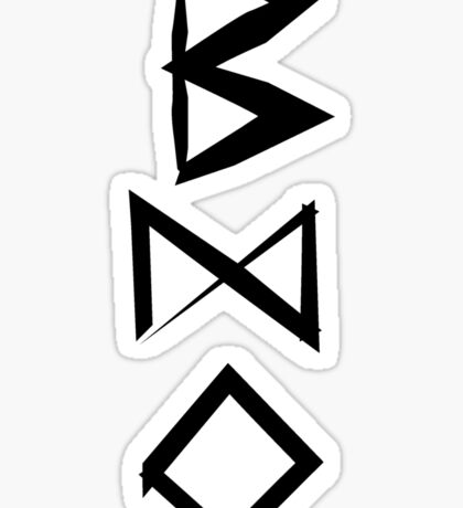The Mark of a Burglar Sticker