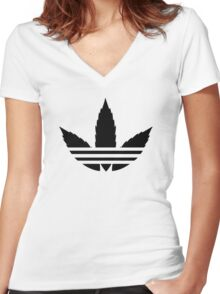 Addicted Women's Fitted V-Neck T-Shirt