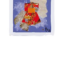 red kimono by Julie  Savard