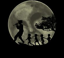 Piper, Under Full Moon Sticker by Howard Dale