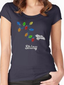 Tis the season to be Shiny Women's Fitted Scoop T-Shirt