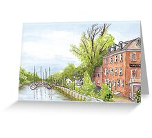 Plein Air Moleskine 2013 Delaware City Delaware Greeting Card