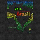 World Cup Brazil 2014 [Leather Black 1] by Vidka Art