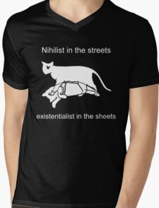 Nihilist in the streets Mens V-Neck T-Shirt
