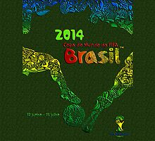 FIFA World Cup Brazil 2014 [Green] by Vidka Art