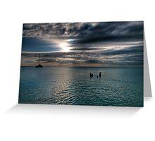 Caribbean sea view Greeting Card