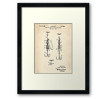 Patent Drawing for Spinning Lure Framed Print