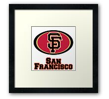 San francisco Giants 49ers mash up Framed Print