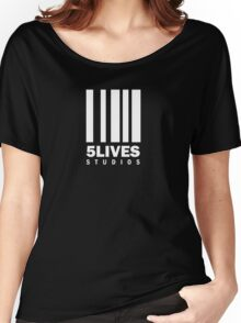 5 Lives Studios White Women's Relaxed Fit T-Shirt