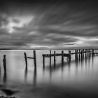 Binstead Hard Jetty BW by manateevoyager