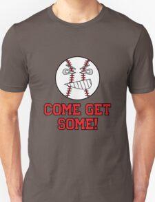 "Cartoon Baseball ""Come Get Some!"" T-Shirt"
