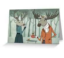 Winter tea together Greeting Card