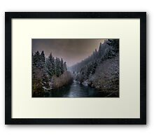 McKenzie River ~ Snow ~ Framed Print