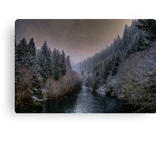 McKenzie River ~ Snow ~ Canvas Print