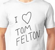 """I ❤ Tom Felton"" replica tee Unisex T-Shirt"