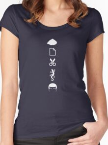 Rock Paper Scissors Lizard Spock Women's Fitted Scoop T-Shirt