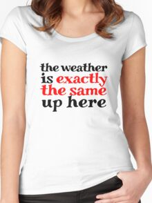 The weather is exactly the same up here Women's Fitted Scoop T-Shirt