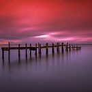 Binstead Hard Jetty Sunset by manateevoyager