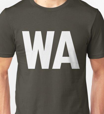 Washington WA White Ink Unisex T-Shirt
