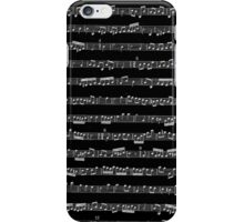Black & White Music iPhone Case/Skin