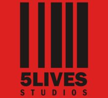 5 Lives Studios Black Kids Tee