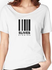 5 Lives Studios Black Women's Relaxed Fit T-Shirt